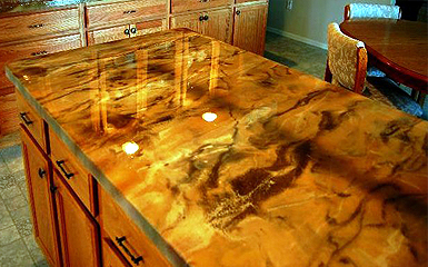Epoxy Counter Tops Are Made Up Of Two Diffe And Separate Components An Resin